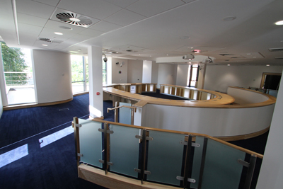 The new chamber at Down District Council where live streaming of meetings may take place in the future if councillors decide to press ahead with it.