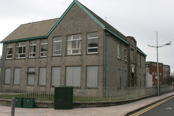 The old college site in Donard Street in Newcastle where a proposal for social housing has been drafted up by Oaklee Hoasing Association and is being contested by politicians and residents.