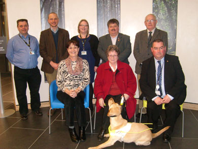 The Down Disability Working Group with Pauline McKenna, centre front.