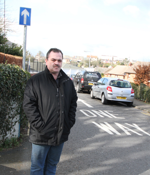 Downpatrick Councillor Liam Johnston is calling for drivers to head the one way system at St Patrick's Drive in Downpatrick.
