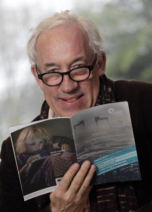 World famous actor Simon Callow who was in Belfast to launch the Lyric Theatre's new season programme which includes his own one man show called The Man Jesus, on the Danske Bank stage this April. The season at the Lyric is dominated by plays about Belfast to celebrate the city's 400th birthday. (Photo by Presseye).