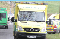 Four ambulances were at the scene of the carbon monoxide poisoning incident in Newcastle.