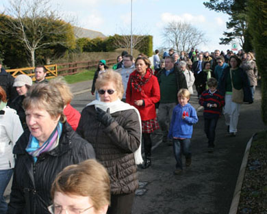 Come join the large turnout of walkers on their annual walk from St Patrick's Church, Saul, to Down Cathedral on Monday.