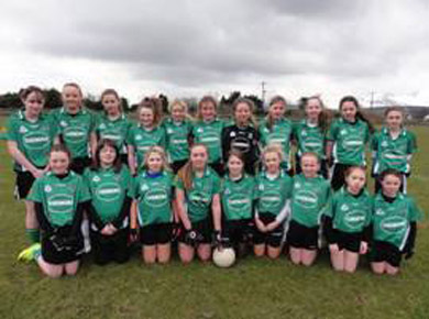 The Castlewellan U-14 ladies team.