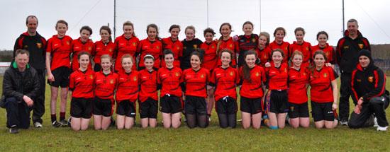 The Down U-14 Ladies team.