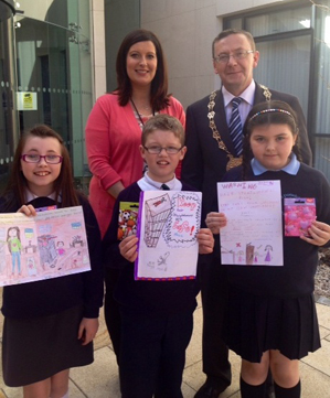 Local school children took part in a Home Accident Prevention poster competition.