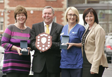 Rosie Kelly, Colm McKenna, Chairman of the South Eastern HSC Trust), Paula Thompson and Linda Kelly, Acting Director of Nursing, South Eastern HSC Trust.