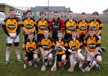 The Castlewellan U-16 hurlers who beat Clonduff.
