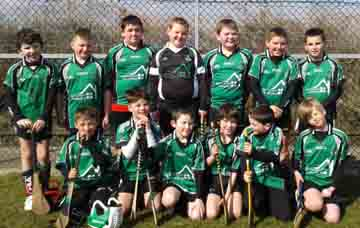 The Under-10 hurlers at Clonduff.