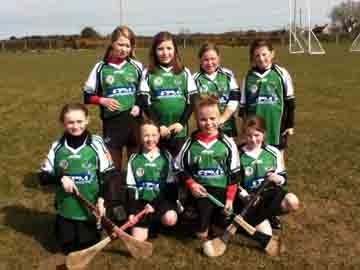 The U-12 Camogs at a tournament in Ballycran.