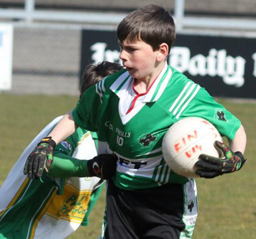 Eoin Travers who had a great game for the Fin U-14's.