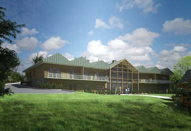 An artist's view of the new Daisy centre in Newcastle that will provide respite for families who have a child suffering from cancer.