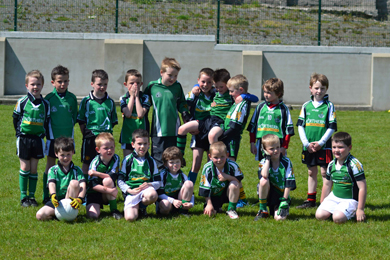 The Castlewellan U-8 team at the Drumaness blitz.