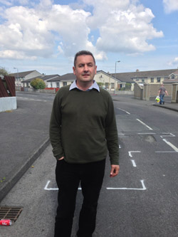 Cllr Willie Clarke has welcomed road repairs at the Burrendale Estate in Newcastle.