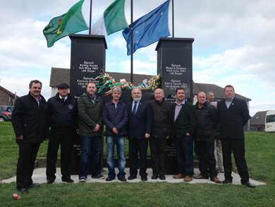 Republicans gather in Downpatrick to commemorate the Hunger Strikers.