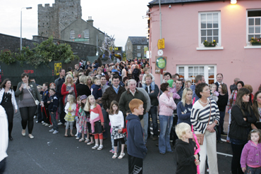 Crowds line the streets in Portaferry, a very popular destination for local tourists and visitors.
