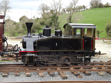 The No1 train engine... ready for the May Day train rides.