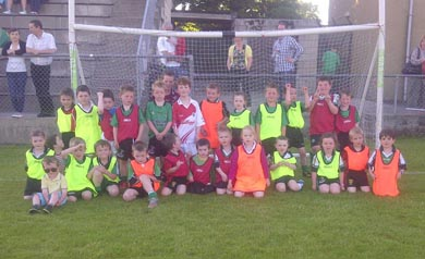 The young footballers who entertained at half-time.