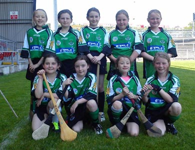 The U-19 camogs at Pairc Esler.