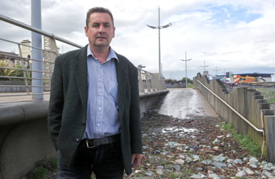 Newcastle Councillor Willie Clarke has expressed his concern at the state of the harbour area in Newcastle.
