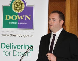 Chris Hazzard MLA was joined by other MLa's in welcoming the jobs brochure for Down District.