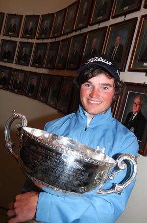 Ardglass Golf Club member Cormac Sharvin (20) is the new Irish amateur golfing champion.