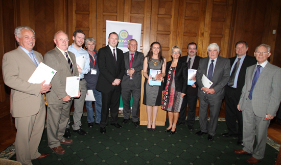 Political representatives pictured at Stormont's Parliament Buildings at the launch of the jobs creation brochure.