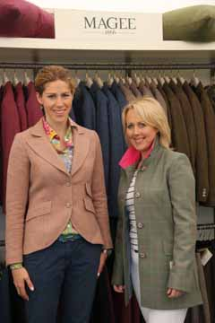 Charlotte Temple, Sales & Marketing Director Magee Clothing, Michelle McCauley, Chairperson of the Castlewellan Show