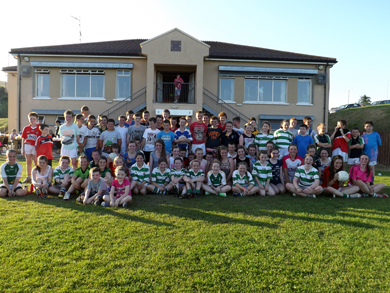 Caption for photo. Killshannig Tomas Russell U13 Boys & Girls from Cork pictured with their RGU counterparts at the club BBQ on Friday night.