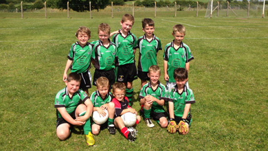 The Castlewellan Under-8's at Darragh Cross