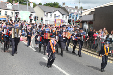 The Castlewellan Accordion Band in action during past year's Twelfth parade in Ballynahinch.