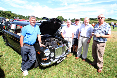 Looking over the 1971 1275cc Vanden Plas are Trevor Williamson, Alan Lyons from Crossgar, owner, Graham McKeag,  Jeff Johnston and Sid McCoy,