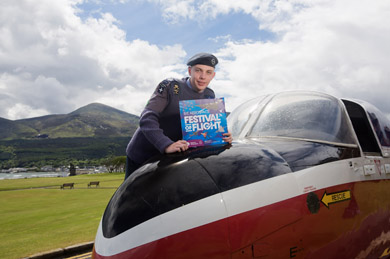 Looking forward to supporting Northern Ireland's biggest and most exciting annual celebration of aviatio is Cadet Flight Sergeant Ryan Patton from Killyleagh.  Organised by Down District Council, the B/E Aerospace Festival of Flight on Saturday 10 August is a fabulous free event.