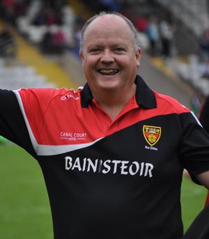 A smiling Down Ladies manager - Benji Ward.