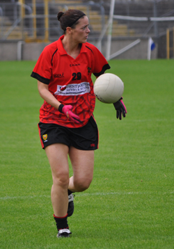 Lisa Morgan played a solid game for Down against Sligo.