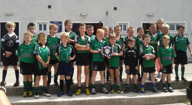 The Castlewellan GAc U-8 team who won the Rys Brady Memorial Shield at Mayobridge.