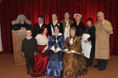 Get into the real history of Down County Museum. Pictured are staff and friends during a Murder Mystery Night held earlier this year.