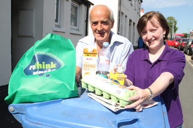 Joe Fitzpatrick from Downpatrick pictured with Lucinda White, Down District Council Education Officer.