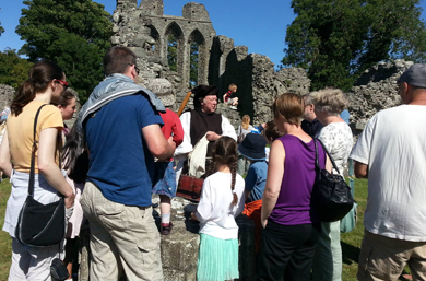 Inch Abbey will be an interesting place to visit during the August Bank Holiday as the Mystery Monk makes his last visit.