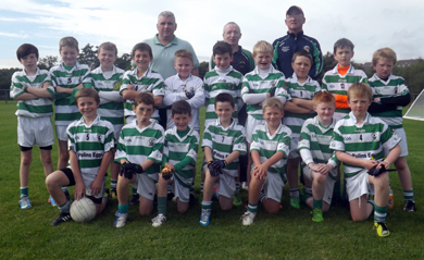 RGU U-10s who lost out in the final of their home tournament on Saturday.
