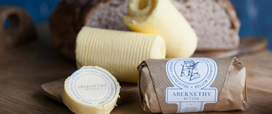 Abernethy Butter is produced from the green grass and fresh air around the beautiful Dromara hills.