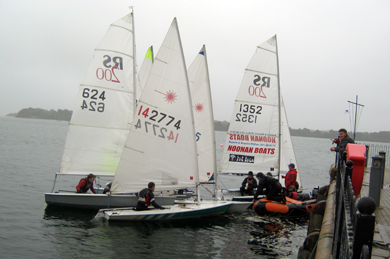 Some of the yachts that took part in the Dundrum Sailing Regatta at the weekend.