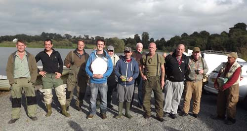 The anglers who took part in the Islanderry competition