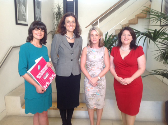 Laura Dublin, second right, at the Dublin Women in Politics lunch with the Secretary of State for NI.