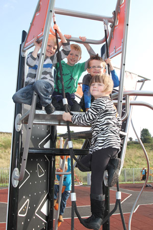 Local Annsborough children are delighted with their new playpark.
