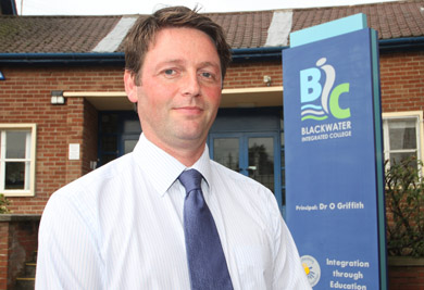 Stephen, the new vice principal at Blackwater Integrated College in Downpatrick.