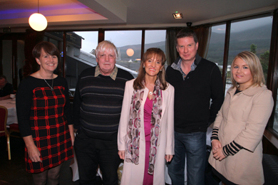 At the fishing industry breakfast meeting in O'Hare's in Newcastle were South Down MLA Caitr'ona Ruane, Dick James, NIFPO Chief Executive, Martina Anderson MEP, Alan McCulla, ANIFPO Chief Executive, and Naomi Nalie, Sinn FŽin Political Adviser.