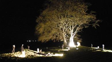 The Old Viking Graveyard comes to life at Halloween at Downpatrick Railway.
