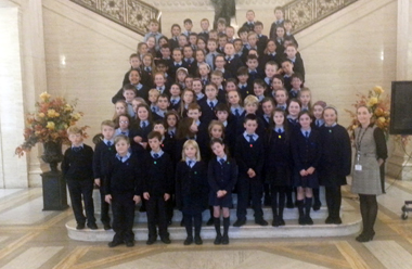 St Malachy's Primary  School pupils vist Stormont.