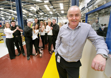 Francis Kelly, Acting Vice President & Managing Director of B/E Aerospace (Kilkeel) is delighted to see the company go 'dance crazy' in support of the its designated chartities